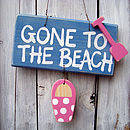 beach sign_blue wash with candy pink spot