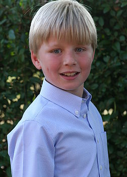 Boy's Sky Blue Gingham Shirt