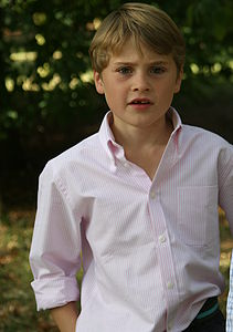 Boy's Pink And White Stripe Shirt - shirts & blouses