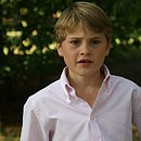 Boy's Pink and White Stripe Shirt