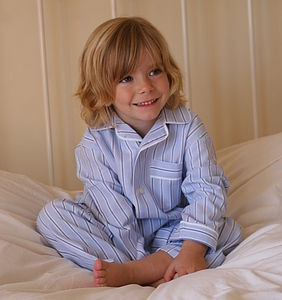 Boy's Brushed Cotton Stripe Pyjamas