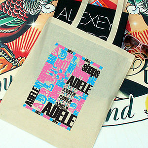 Personalised Kitsch Tote Bag - shopper bags