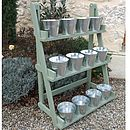 12 zinc pots fit a wooden Plant Theatre