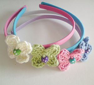 Hair Band with Crocheted Flower - shop by price