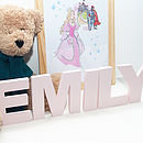 Pastel Pink Personalised Letters