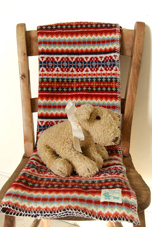 fairisle lambswool baby blanket by tuppence and crumble ...
