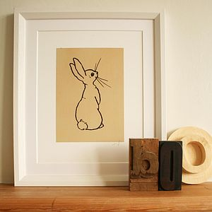 Boo Bunny Fine Art Print - canvas prints & art for children
