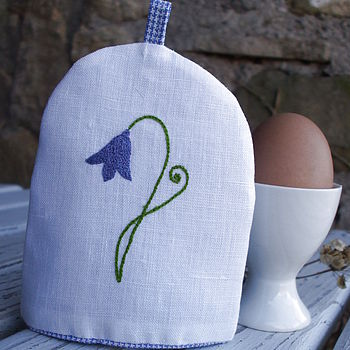 Hand Embroidered Bluebell Egg Cosy