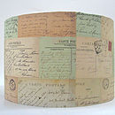 Vintage French Postcards Lampshade