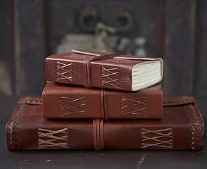 Handmade Leather Journal - stationery gifts