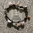 Leather Charm Bracelet In Soft Pink