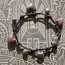 True Friends Leather Charm Bracelet in Light Amethyst
