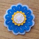 Cornflower round flower brooch