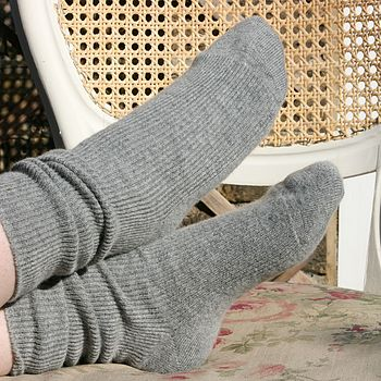 Cashmere Mix Grey Socks