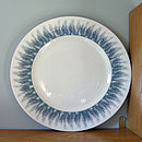 Blue Feather Sandwich Plate