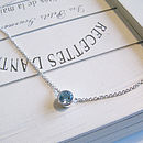 Sterling Silver Aquamarine Necklace