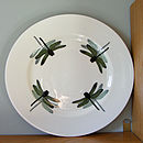 Green Dragonfly Sandwich Plate