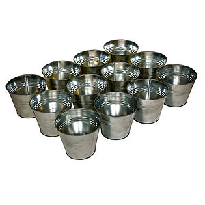 The Zinc Pot Set - garden accessories
