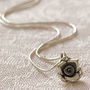 Solid Silver Little Rosebud Necklace