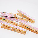 Pink Gingham Magnetic Note Holders