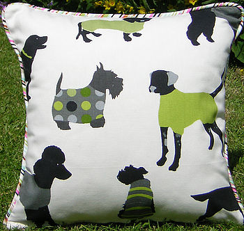 Mr Woofles Lime Cushion Cover