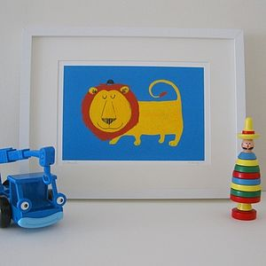Lionel the Lion Fine Art Print - children's pictures & prints