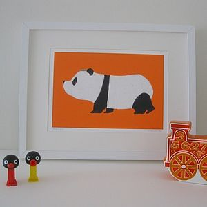 Pierre the Panda Fine Art Print - canvas prints & art for children