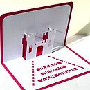 New Home Personalised Pop Up Card