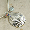 Scallop necklace paper
