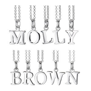 Sterling Silver Alphabet Initial Charm - charms, charm bracelets & necklaces