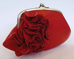 Large Ruffle Purse - purses & wallets