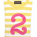 Yellow & white Number T shirt