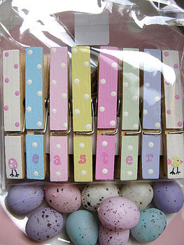 Handpainted Easter Pegs