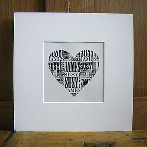 Personalised Vintage Style Shape Name Print - prints & art