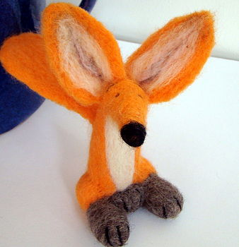 'Wilf' Needle Felted Fox Collectible