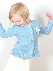 Handmade Organic Cotton Crochet Frill Cardigan - clothing