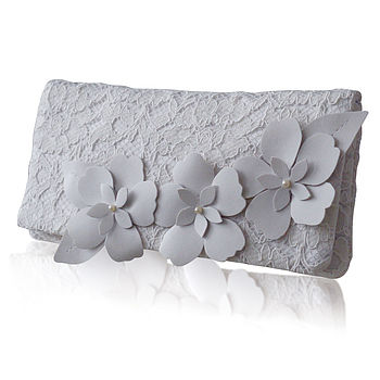 Astor Bridal Lace Clutch