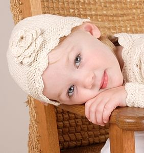 Handmade Organic Cotton Crochet Flower Hat - children's accessories