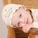 Handmade Organic Cotton Crochet Flower Hat