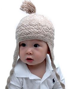 Handmade Organic Cotton Tassel Tie Hat - children's accessories