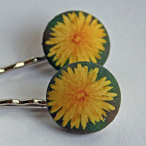 Dandelion hair grips - women's accessories