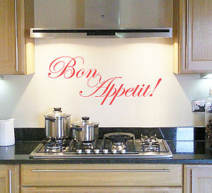 'Bon Appetit' Wall Sticker