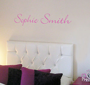 Script Personalised Name Wall Sticker