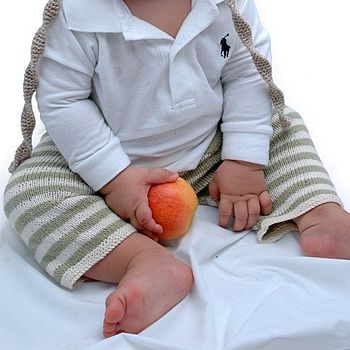 Handmade Organic Cotton Baby Stripe Trousers