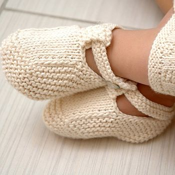 Handmade Organic Cotton Baby Booties