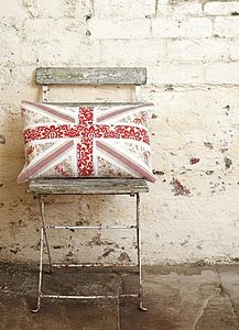 Vintage Union Jack Cushion - embroidered cushions