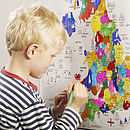Uk Map Colour In Poster Art Kit With 20 Pens