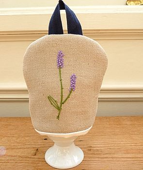 Personalised Egg Cosy - Lavender Vintage Linen