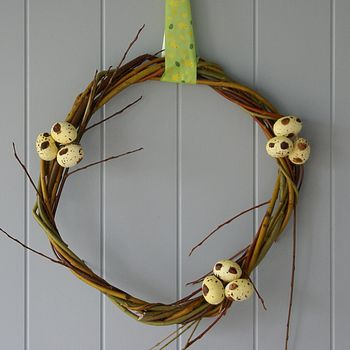 Handmade Willow Easter Egg Wreath
