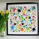 Personalised Vibrant Stars Framed Picture